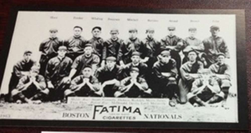 1913 T200 Fatima Reprint Boston Braves Team Card MINT