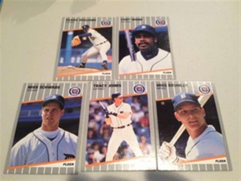 1989 Fleer Plus Update Detroit Tigers Team Set