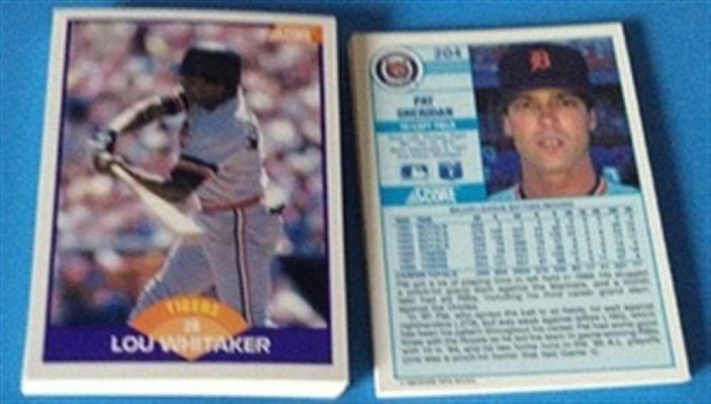 1989 Score Plus Traded Detroit Tigers Team Set