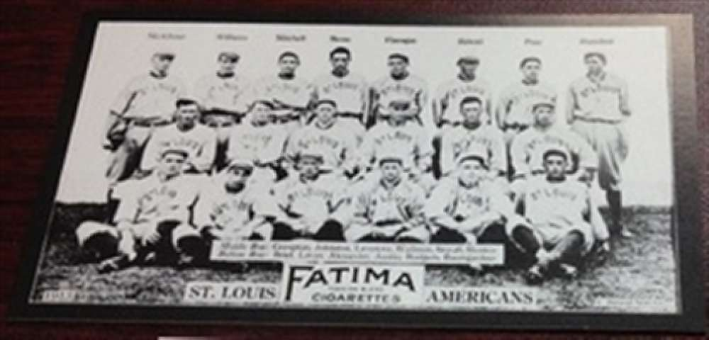 1913 T200 Fatima Reprint St Louis Browns Team Card Stovall MINT