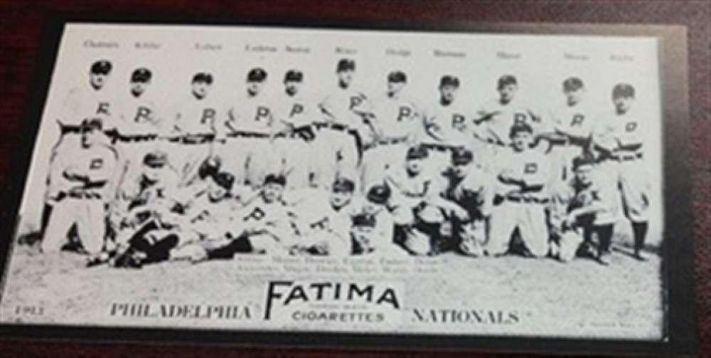 1913 T200 Fatima Reprint Philadelphia Phillies Team Card Grover Alexander MINT