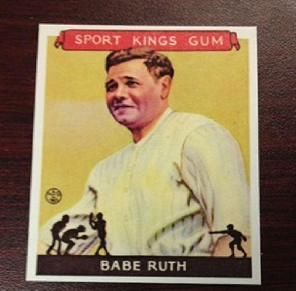 1933 Sport Kings Gum Reprint 2 Babe Ruth Yankees
