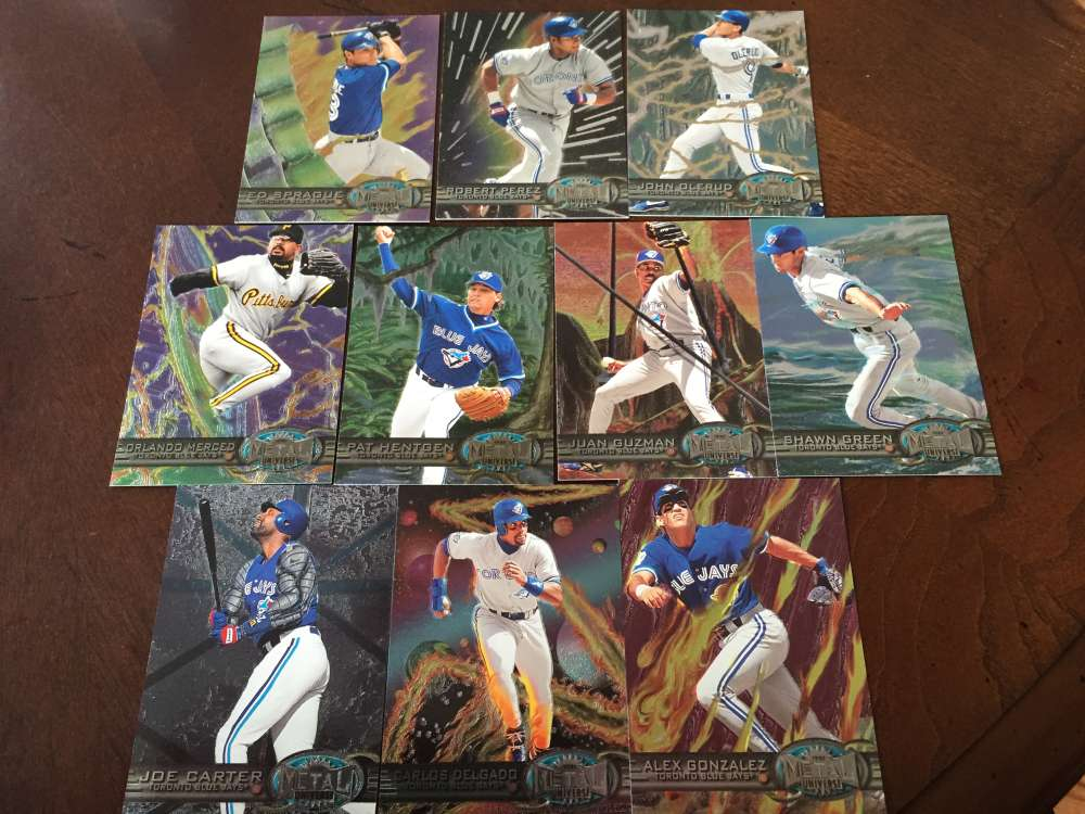 1997 Fleer Metal Universe Toronto Blue Jays Team Set MINT