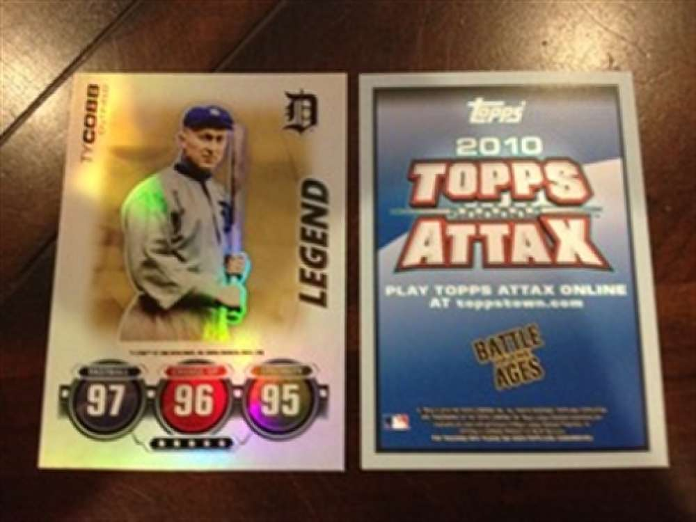 2010 Topps Attax Battle Ages Foil Ty Cobb Detroit Tigers