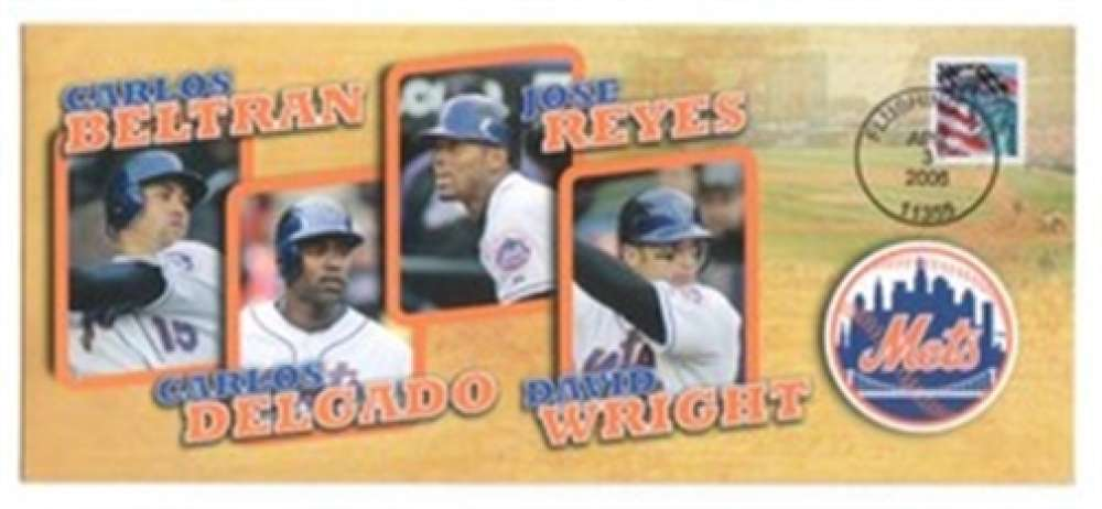 2006 New York Mets Opening Day Event Cachet Cover WRIGHT REYES +