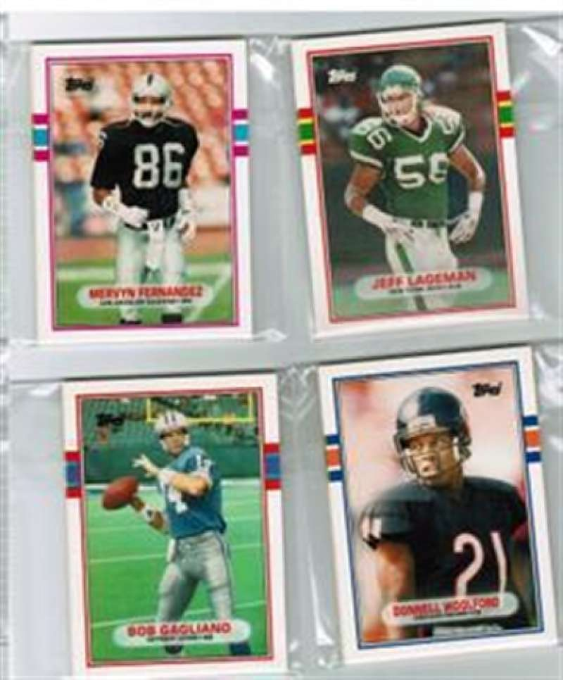 1989 Topps Traded FB Houston Oilers Team Set 4 Cards