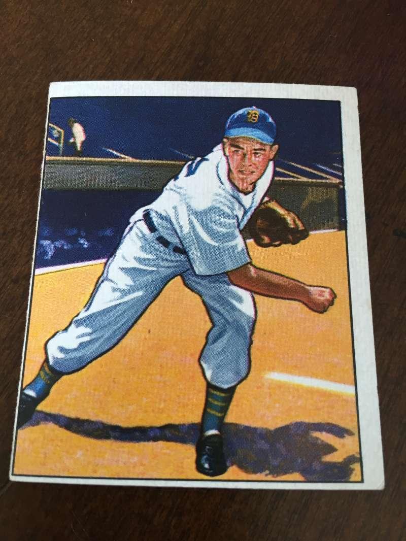 1950 BOWMAN # 42 ART HOUTTEMAN TIGERS VG A15