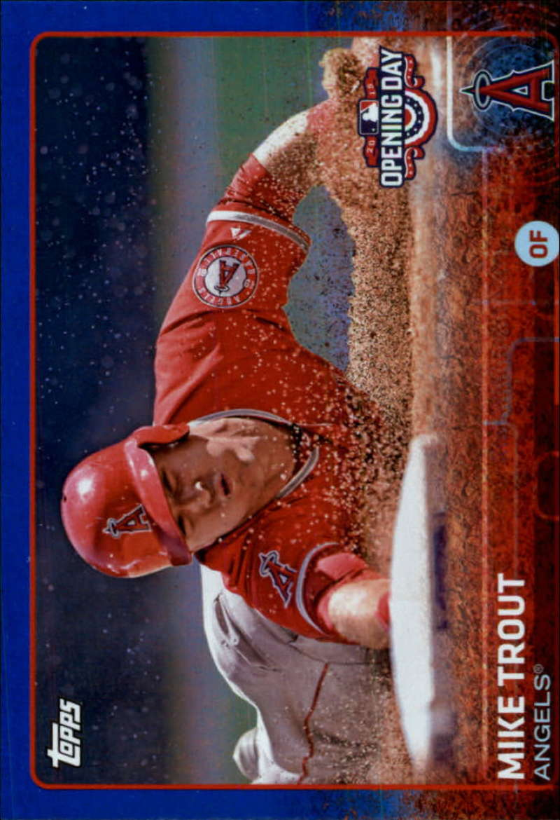 2015 Topps Opening Day BLUE FOIL Los Angeles Angels Team Set 9 Cards Mike Trout