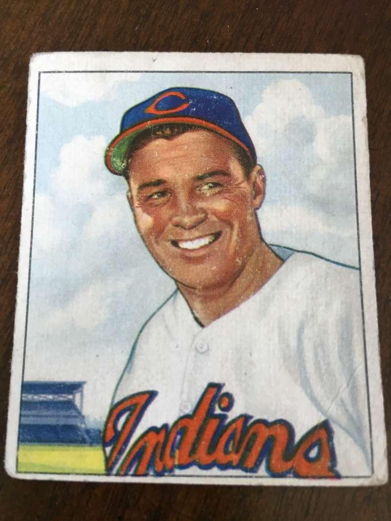 1950 Bowman # 93 Gene Bearden Indians Good A77