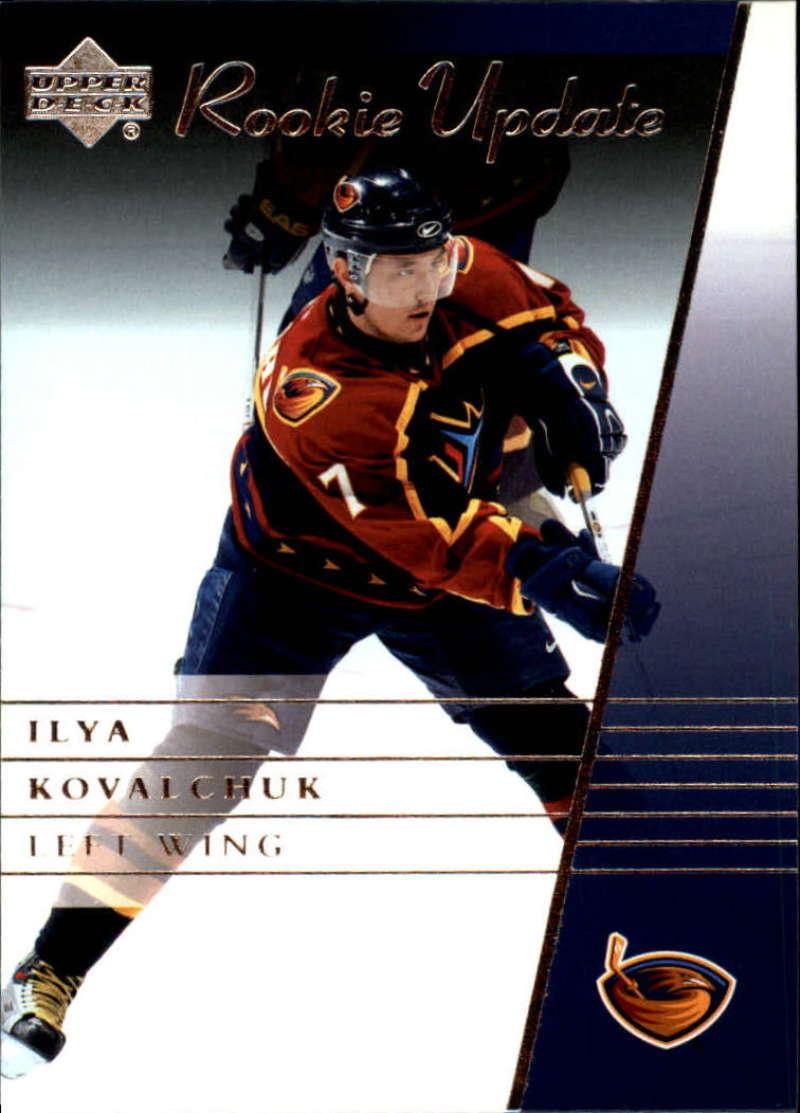2002-03 Upper Deck Rookie Update Atlanta Thrashers Base Team Set 3 Cards Ilya Kovalchuk