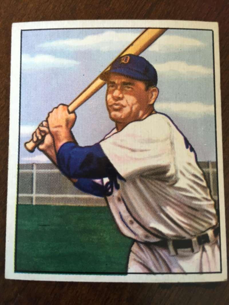 1950 Bowman #211 Charlie Keller Detroit Tigers EX A257