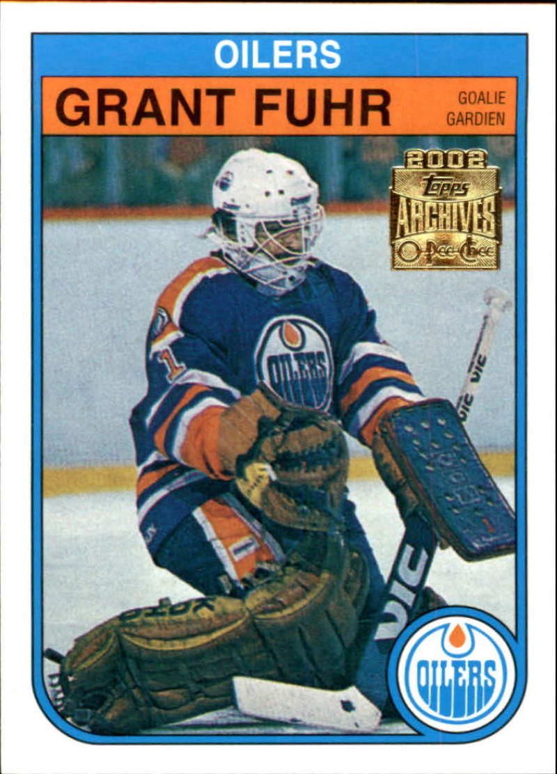 2001-02 Topps Archives Edmonton Oilers Team Set 2 cards Fuhr