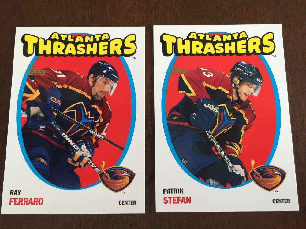 2001-02 Topps Heritage Parallel 71-72 Atlanta Thrashers Team Set 2 Cards