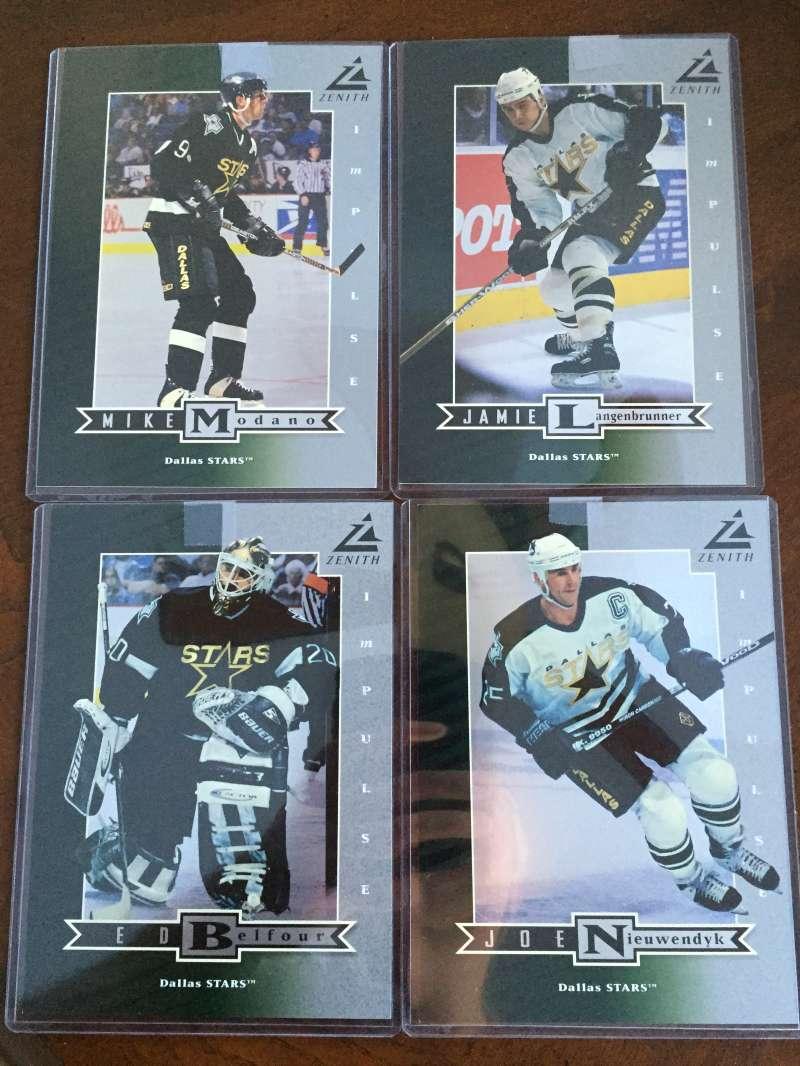 1997-98 Zenith Star Impulse Silver 5x7 Dallas Stars Team Set 4 Cards Mike Modano