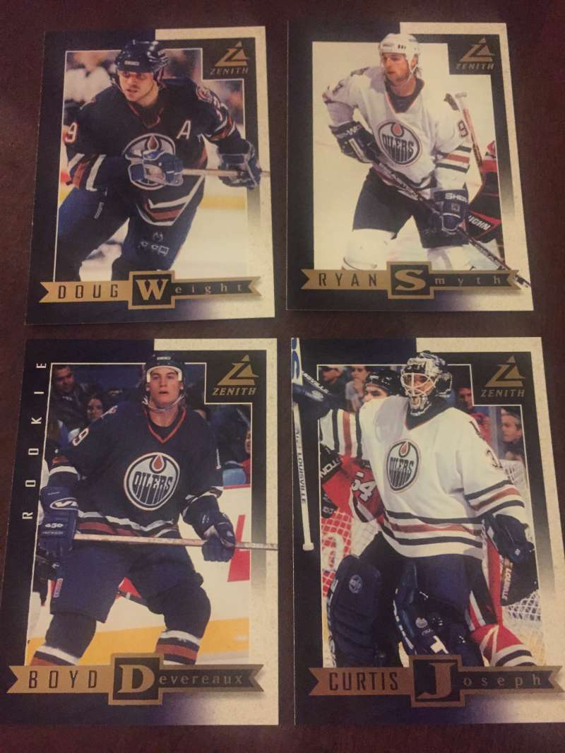1997-98 Zenith Edmonton Oilers Team Set 4 Cards