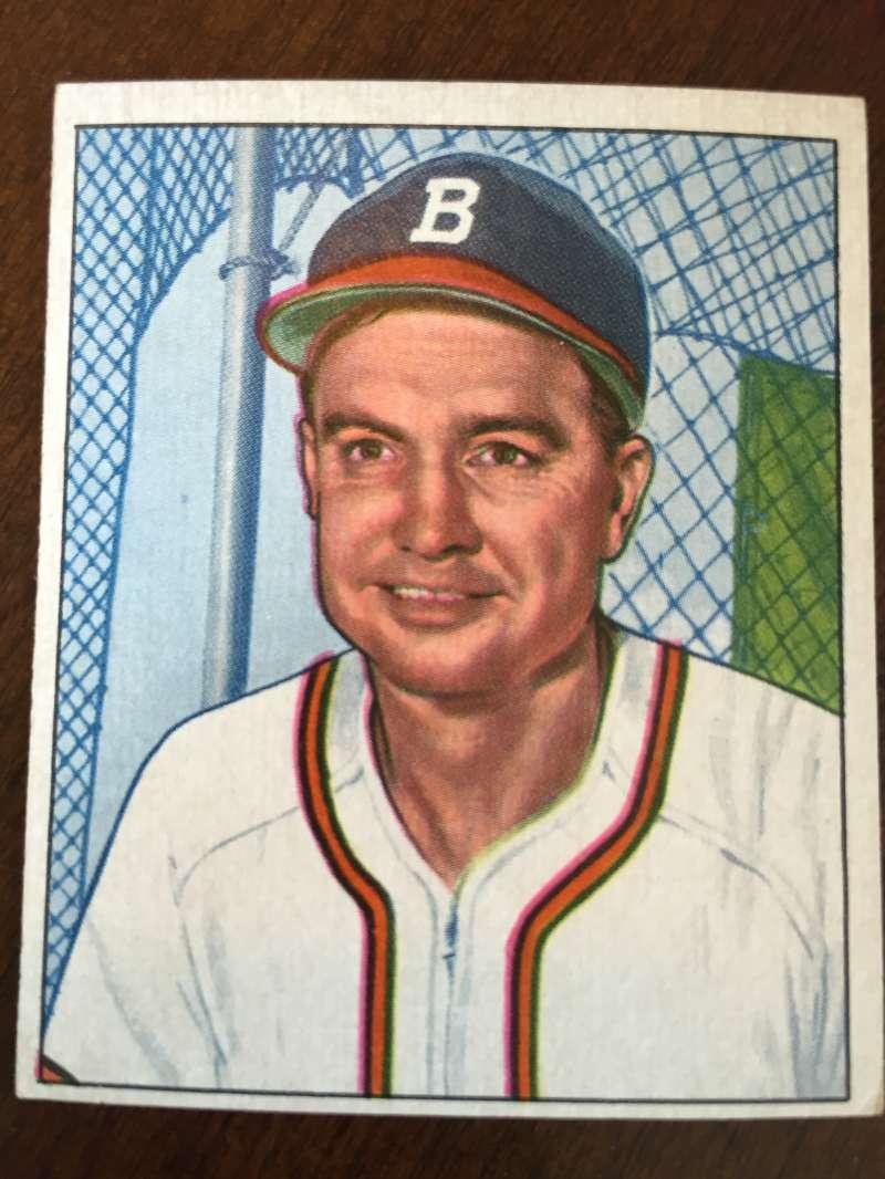 1950 Bowman #111 Walker Cooper Boston Braves ExMt A111