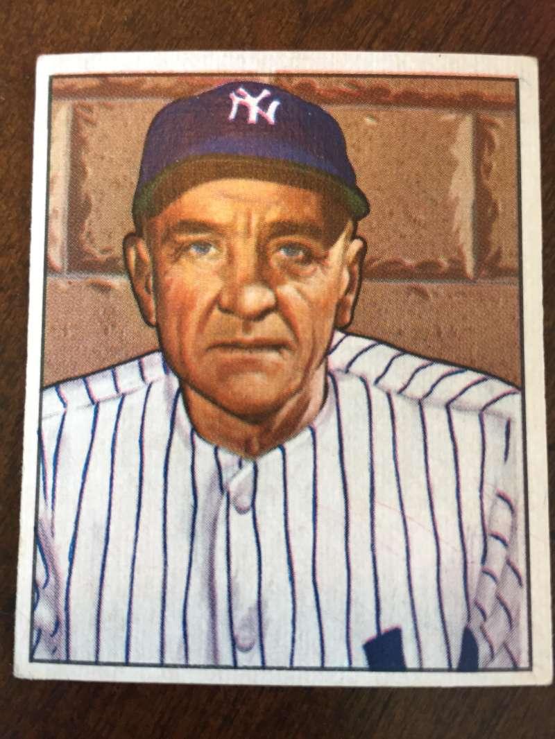 1950 Bowman #217 Casey Stengel New York Yankees EX A267