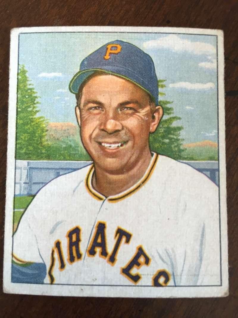 1950 Bowman #122 Johnny Hopp Pittsburgh Pirates VG A125