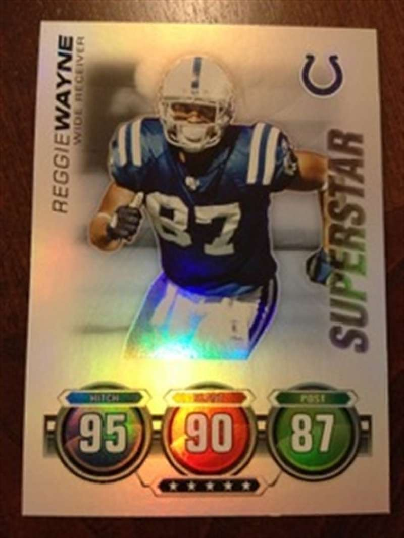 2010 Topps Attax Foil 95 90 87 Reggie Wayne Colts Superstar