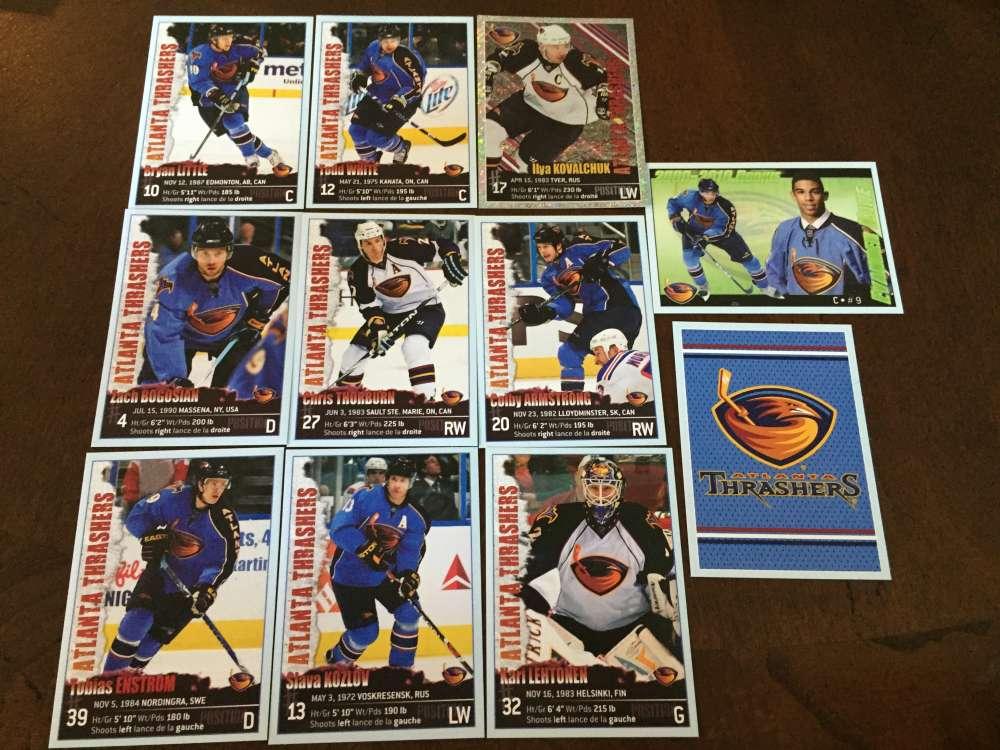 2009-10 Panini Stickers Atlanta Thrashers Team Set RARE 11 Stickers Evander Kane RC