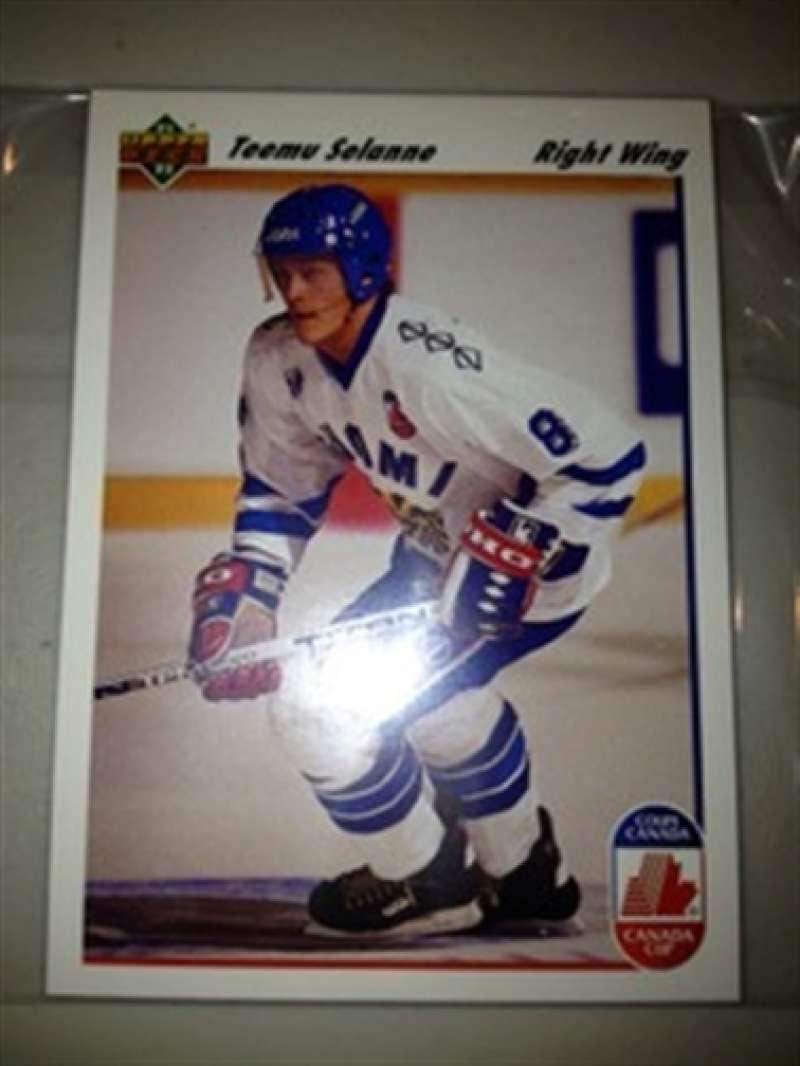 1991-92 Upper Deck Canada Cup FINLAND TEAM Teemu Selanne RC MINT