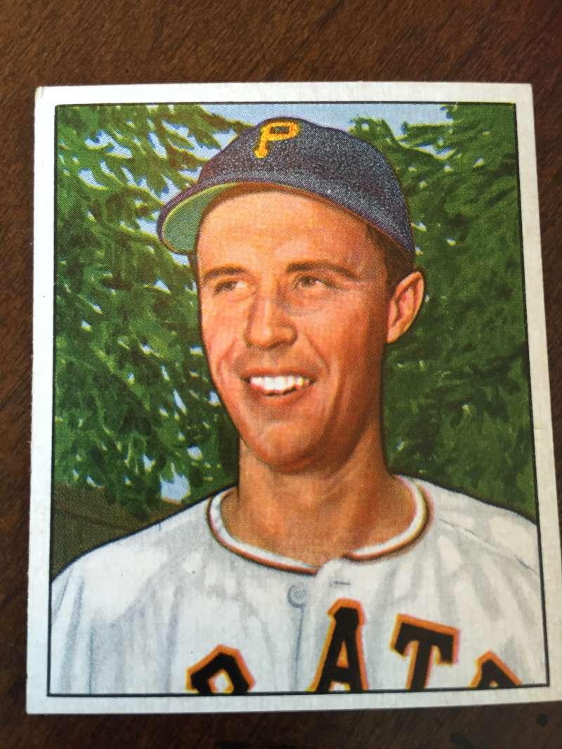 1950 Bowman #178 Eddy Fitzgerald Pittsburgh Pirates EX/EXMT A221