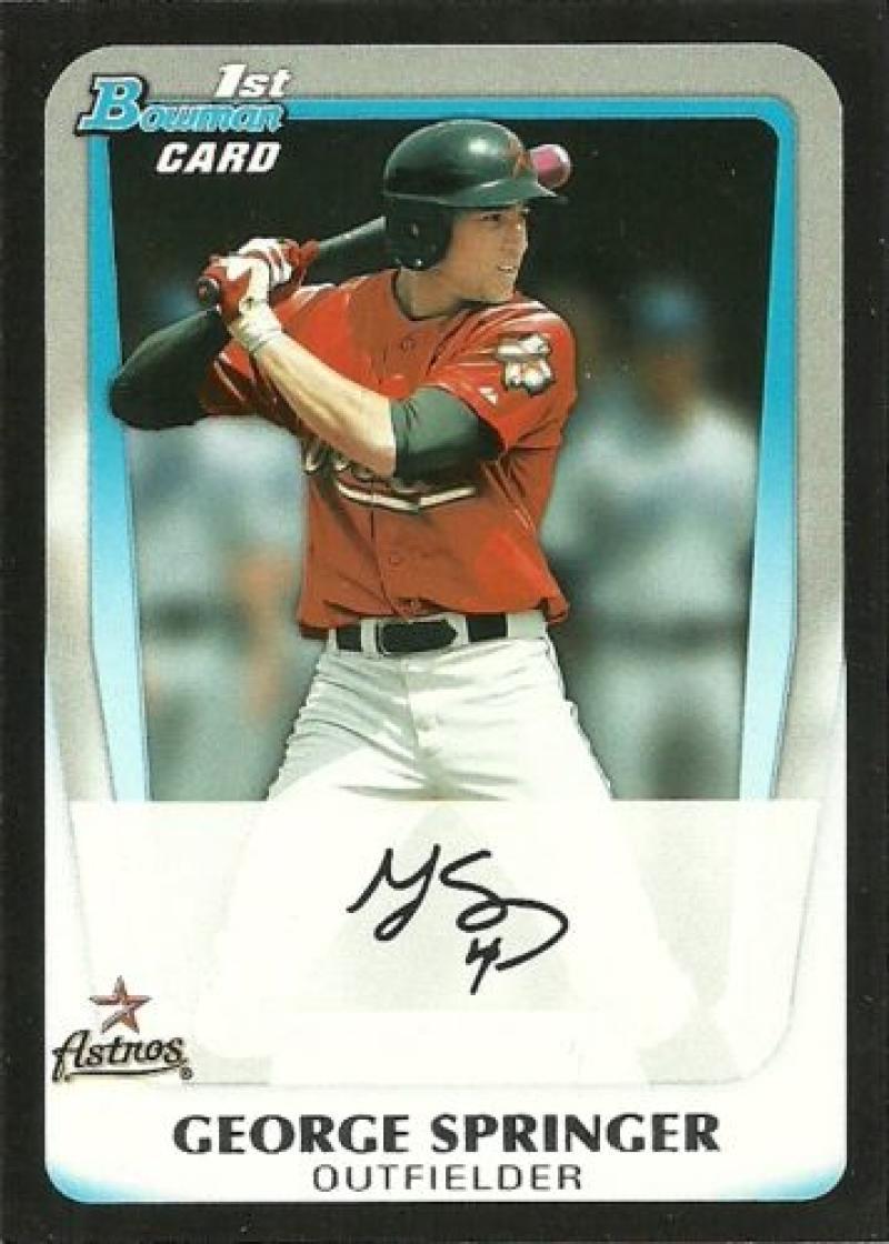 Baseball MLB 2011 Bowman Draft Prospects #BDPP81 George Springer NM-MT Astros