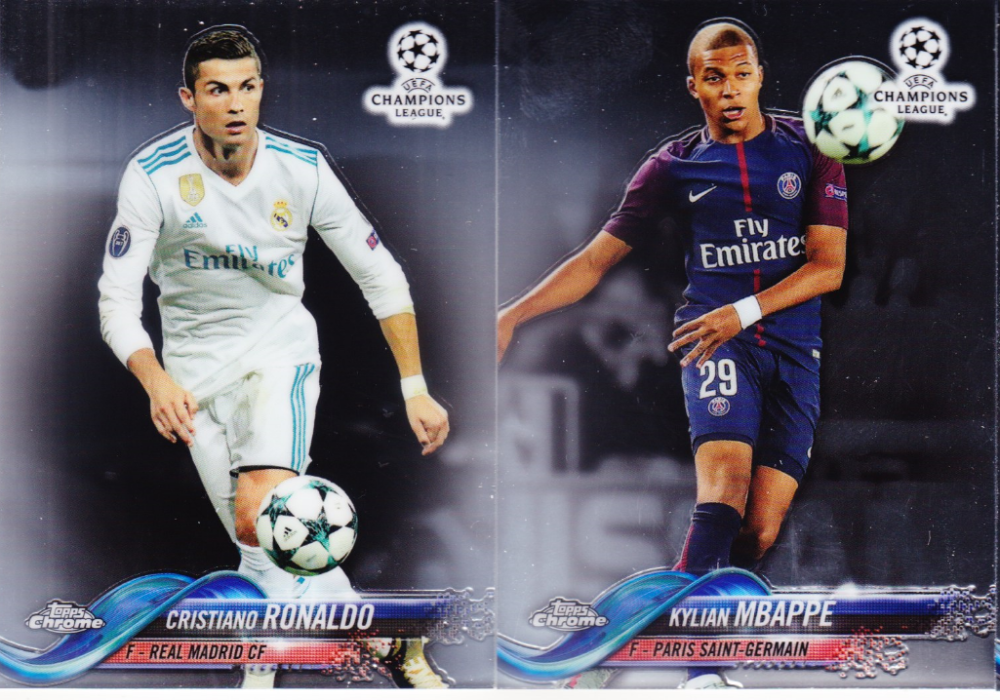 2018 Topps Chrome UEFA Champions League  Complete Soccer Set of 99 Cards