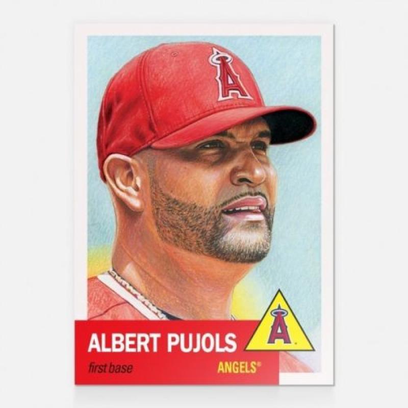 2018 Topps The Living Set #22 Albert Pujols Los Angeles Angels Baseball Card