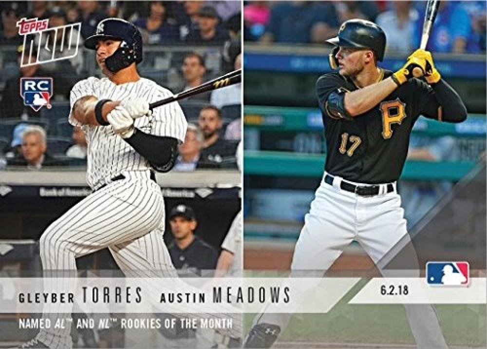 2018 Topps Now Baseball #277 Gleyber Torres/Austin Meadows Rookie Card New York Yankees Pittsburgh Pirates - Only 1,783