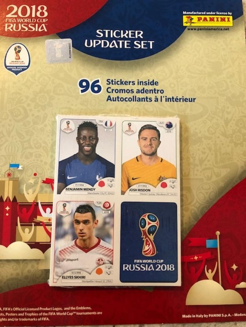 2018 Panini World Cup Russia Update Stickers Factory sealed Complete Soccer Set of 96 Stickers replaces players in album!