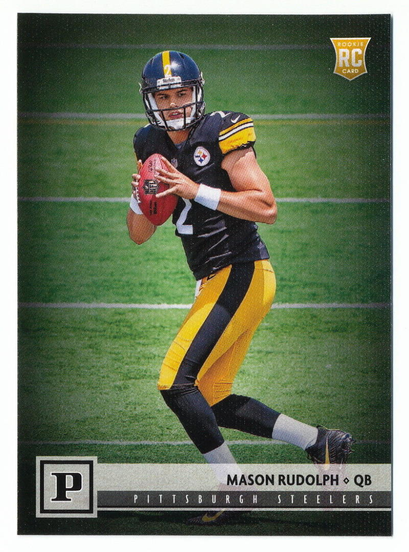 2018 Panini NFL Football #310 Mason Rudolph Pittsburgh Steelers RC Rookie Card