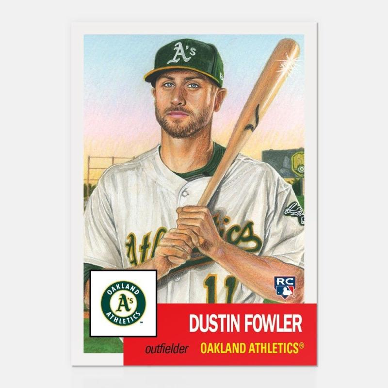 2018 Topps The Living Set #65 Dustin Fowler RC Rookie Oakland Athletics Online Exclusive Baseball Trading Card SOLD OUT