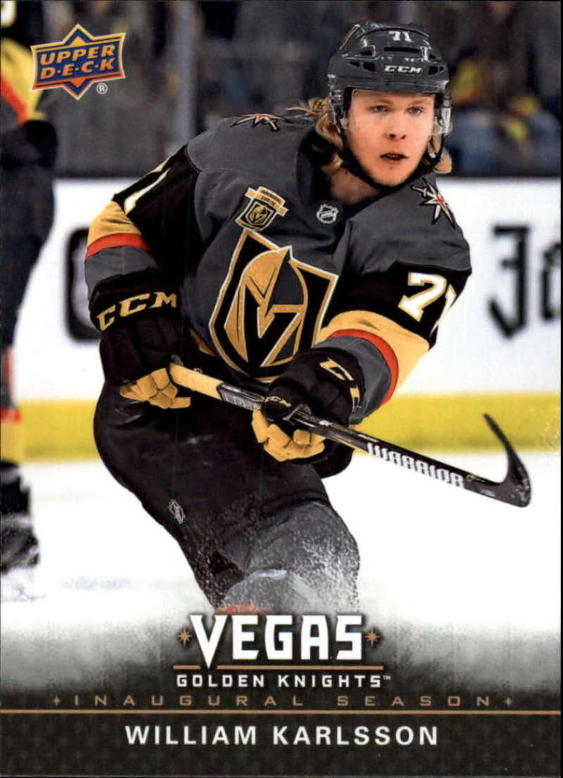 2017-18 Upper Deck Vegas Golden Knights Inaugural Season Hockey #10 William Karlsson Official NHL Trading Card RARE