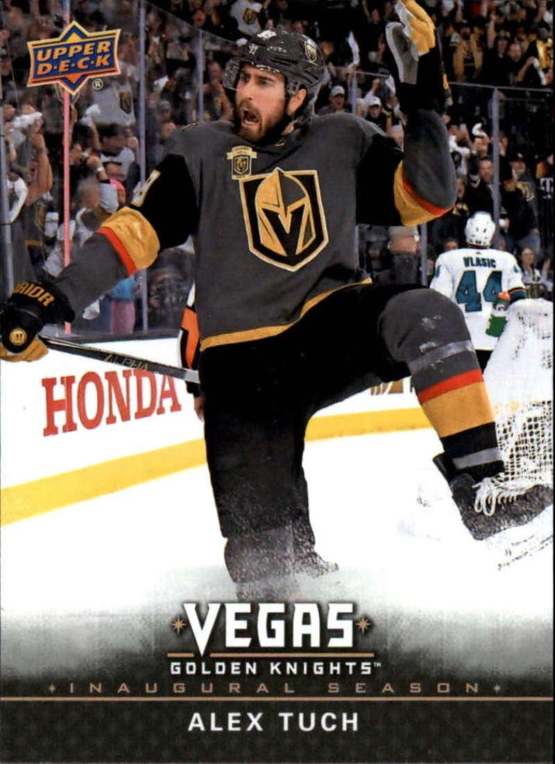 2017-18 Upper Deck Vegas Golden Knights Inaugural Season Hockey #15 Alex Tuch RC Rookie Official NHL Trading Card RARE