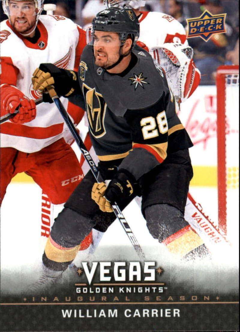 2017-18 Upper Deck Vegas Golden Knights Inaugural Season Hockey #17 William Carrier Official NHL Trading Card RARE