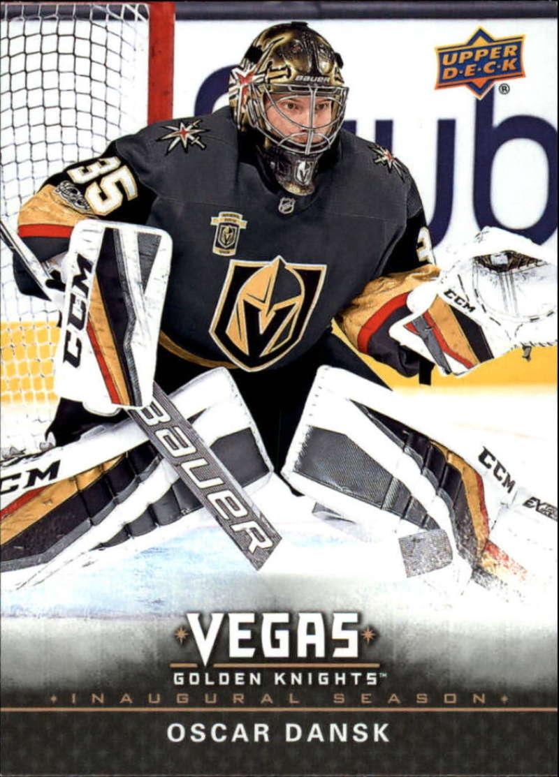2017-18 Upper Deck Vegas Golden Knights Inaugural Season Hockey #29 Oscar Dansk Official NHL Trading Card RARE