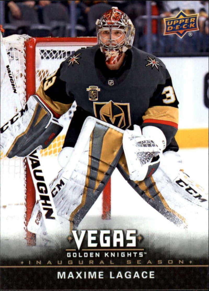2017-18 Upper Deck Vegas Golden Knights Inaugural Season Hockey #32 Maxime Lagace RC Rookie Official NHL Trading Card RARE