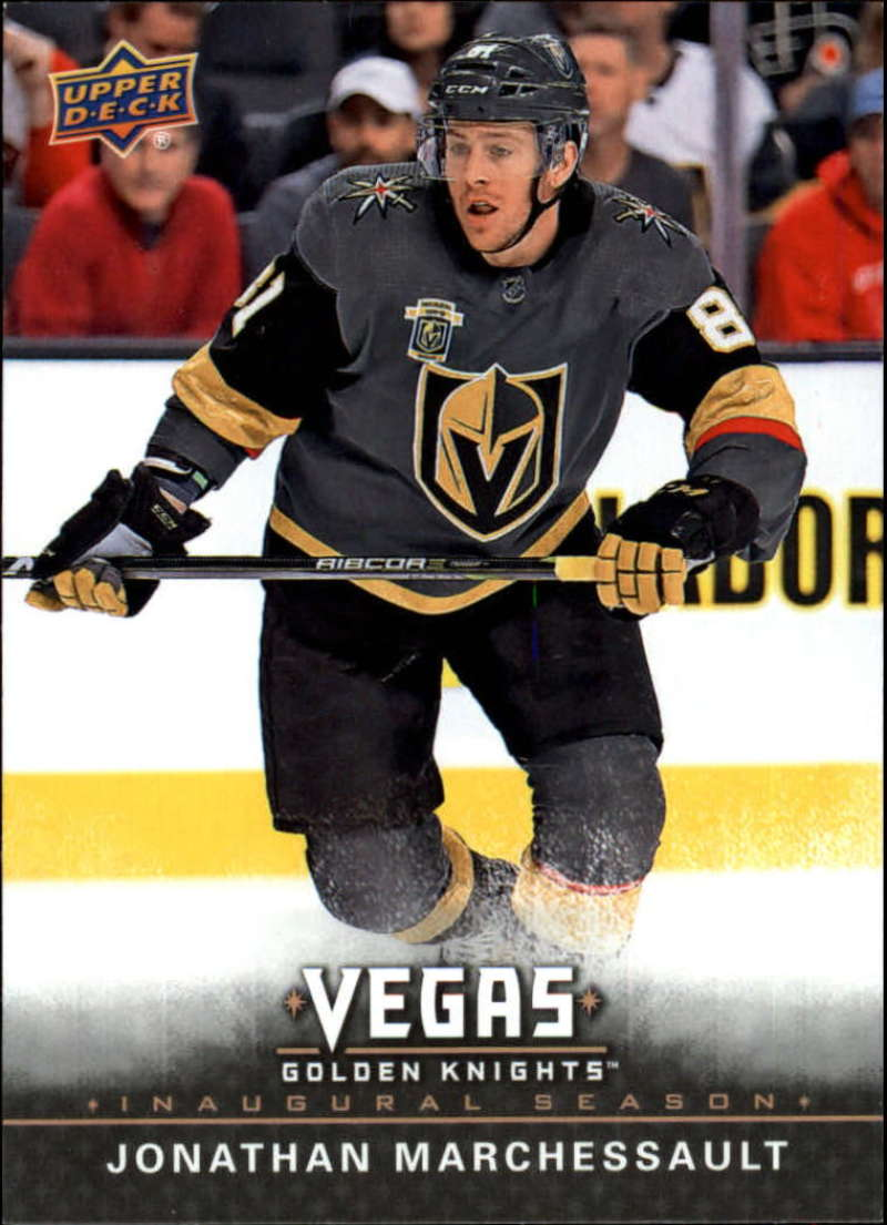 2017-18 Upper Deck Vegas Golden Knights Inaugural Season Hockey #35 Jonathan Marchessault Official NHL Trading Card RARE