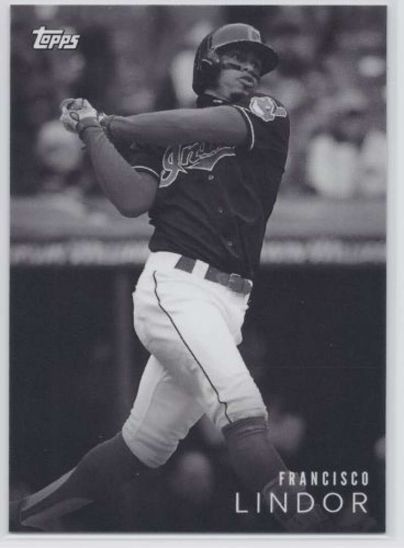 2018 Topps On Demand Black and White Baseball #15 Francisco Lindor Cleveland Indians Official MLB Trading Card Sold Out within hours at Topps Only 166
