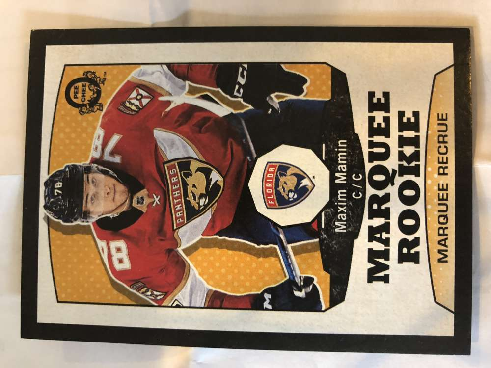 2018-19 O-Pee-Chee Retro Black Border SER100 #538 Maxim Mamin Florida Panthers RC Rookie 18-19 Official OPC Hockey Card (made by Upper Deck)
