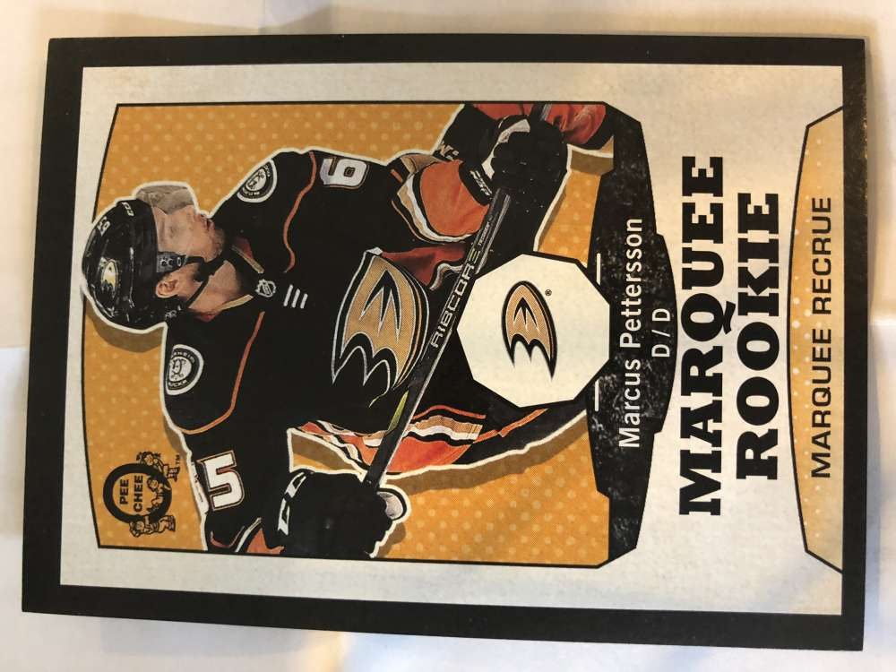 2018-19 O-Pee-Chee Retro Black Border SER100 #542 Marcus Pettersson Anaheim Ducks RC Rookie 18-19 Official OPC Hockey Card (made by Upper Deck)