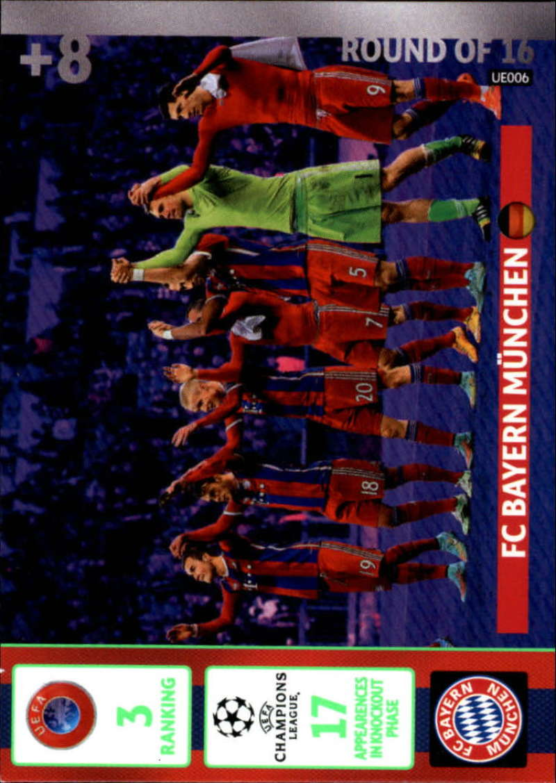 2014-15 UEFA Champions League Adrenalyn XL Update Edition Soccer #UE006 Bayern Munchen Bayern Munchen  Official Futbol Trading Card by Panini