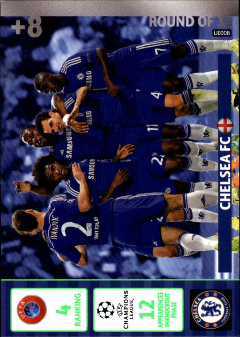 2014-15 UEFA Champions League Adrenalyn XL Update Edition Soccer #UE008 Chelsea Chelsea  Official Futbol Trading Card by Panini
