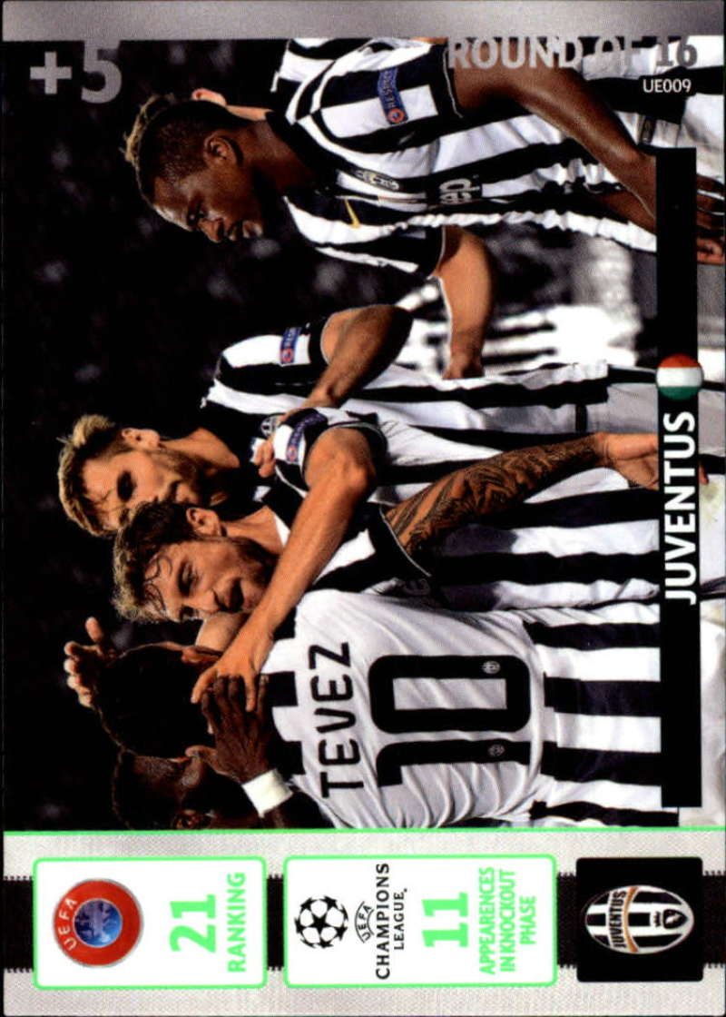 2014-15 UEFA Champions League Adrenalyn XL Update Edition Soccer #UE009 Juventus Juventus  Official Futbol Trading Card by Panini