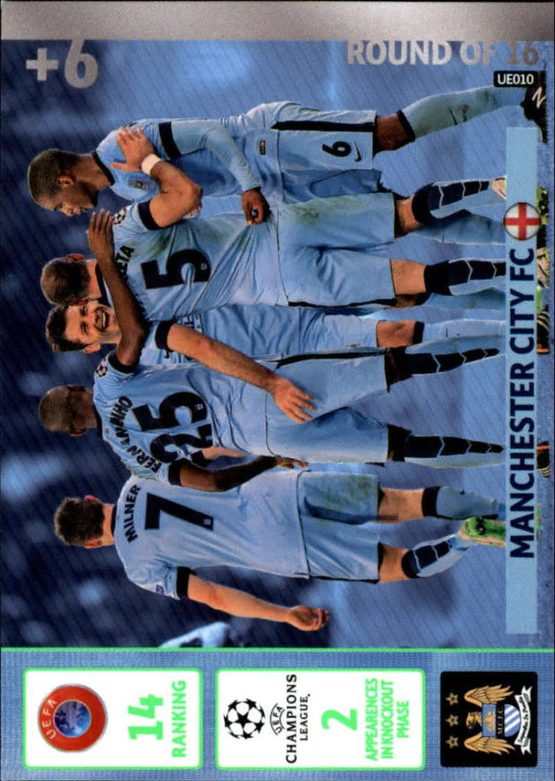 2014-15 UEFA Champions League Adrenalyn XL Update Edition Soccer #UE010 Manchester City Manchester City  Official Futbol Trading Card by Panini