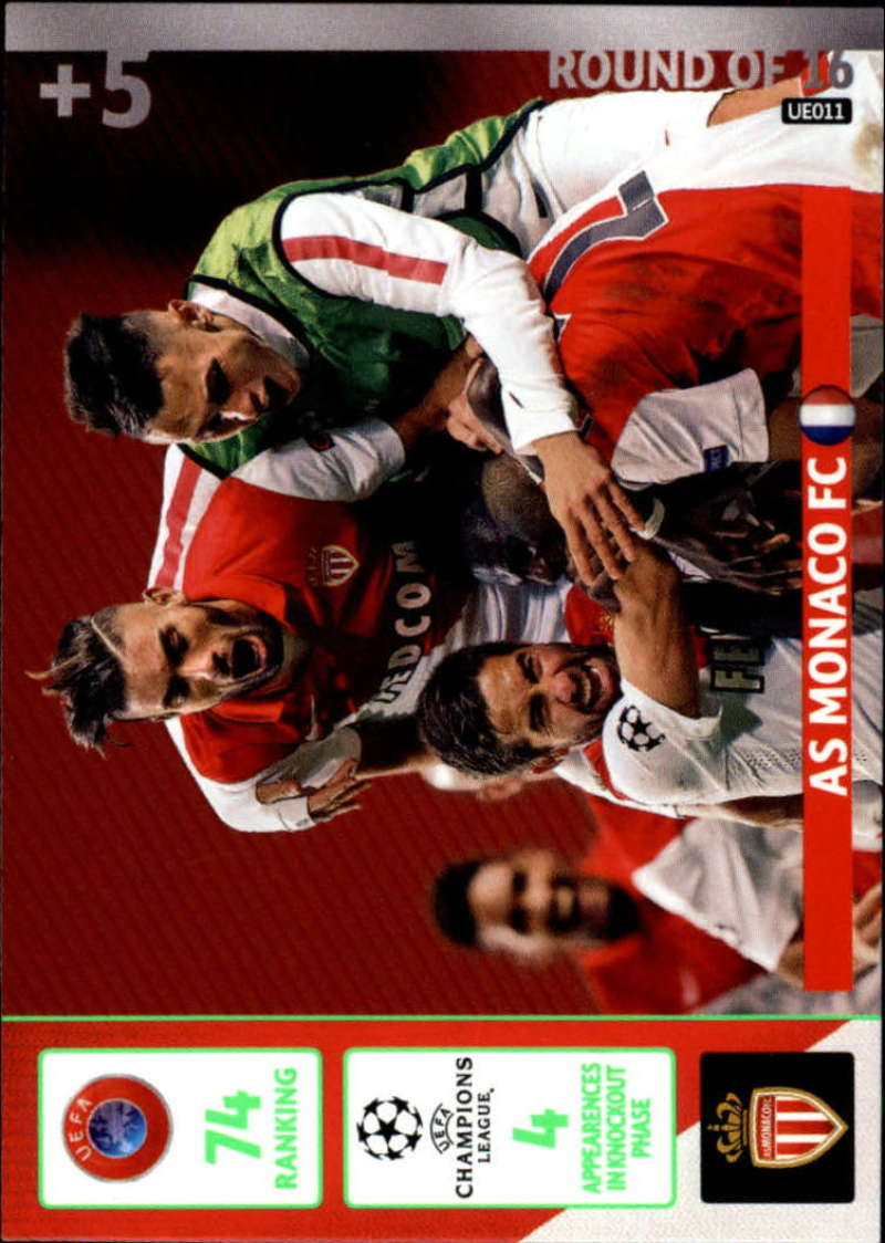2014-15 UEFA Champions League Adrenalyn XL Update Edition Soccer #UE011 Monaco AS Monaco  Official Futbol Trading Card by Panini
