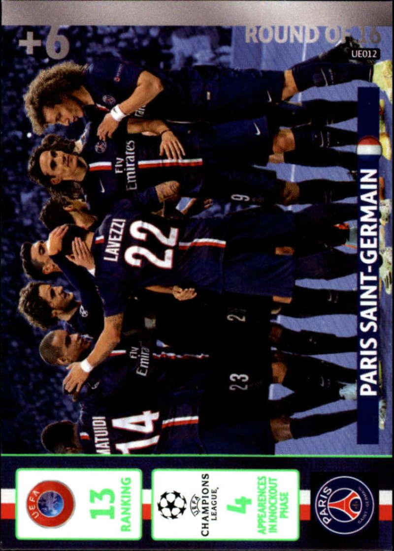 2014-15 UEFA Champions League Adrenalyn XL Update Edition Soccer #UE012 Paris Saint-Germain Paris Saint-Germain  Official Futbol Trading Card by Panin