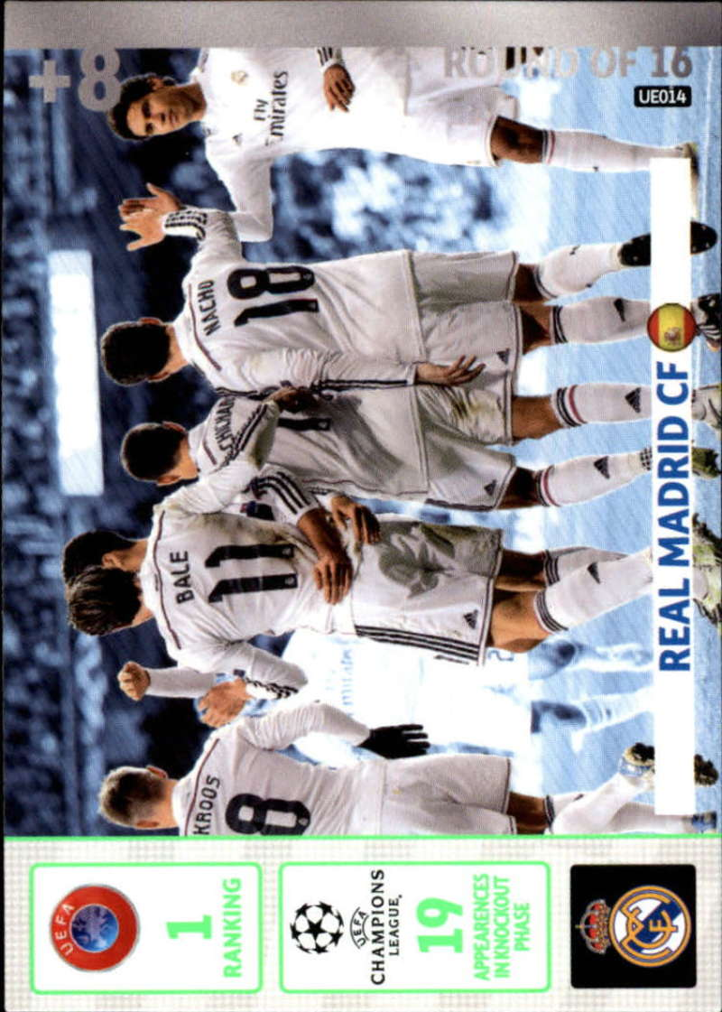 2014-15 UEFA Champions League Adrenalyn XL Update Edition Soccer #UE014 Real Madrid Real Madrid  Official Futbol Trading Card by Panini