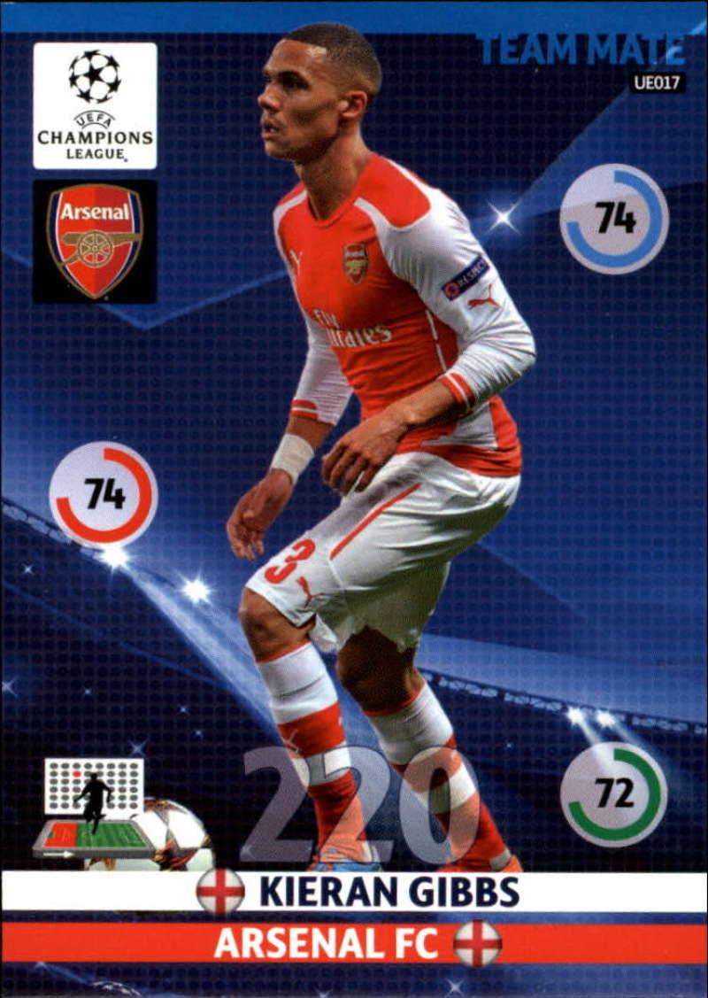 2014-15 UEFA Champions League Adrenalyn XL Update Edition Soccer #UE017 Kieran Gibbs Arsenal  Official Futbol Trading Card by Panini
